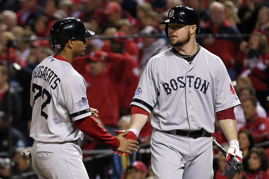 Jon Lester And Xander Bogaerts Photograph by Rob Carr