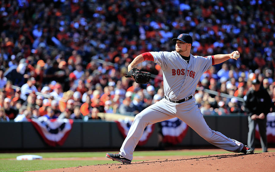 Jon Lester Photograph by Rob Carr