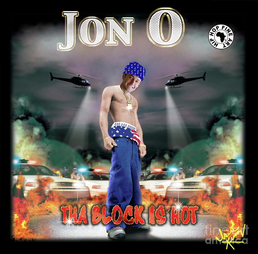 Isis Kenney Digital Art - Jon O Tha Block is Hot by Isis Kenney