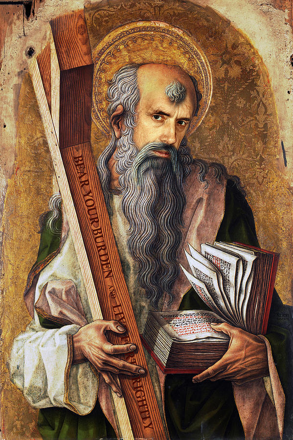 St Andrew Painting - Jordan Peterson as Saint Andrew by Merchant Of Blackburn