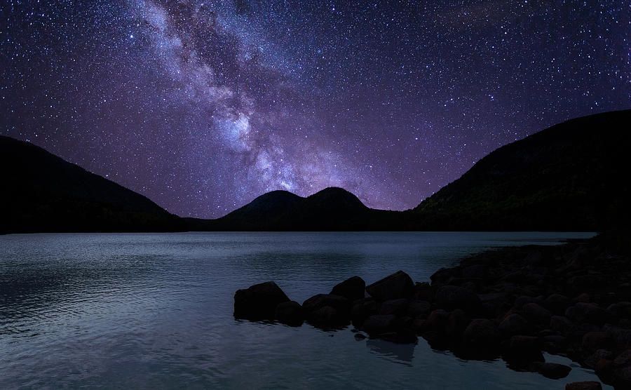 Jordan Pond Milky Way by Lars Lentz