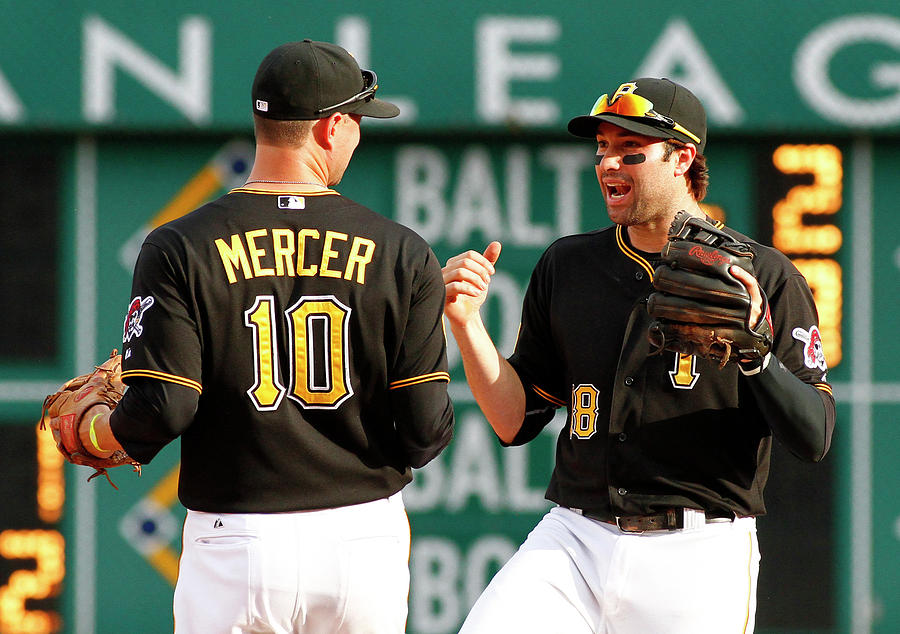 Jordy Mercer and Neil Walker Photograph by Justin K. Aller