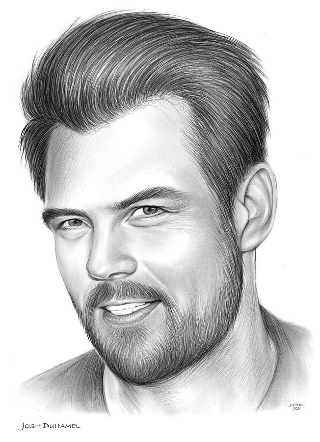 American Drawing - Josh Duhamel - pencil by Greg Joens
