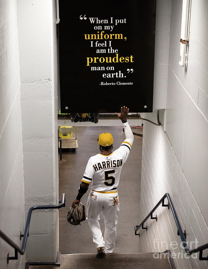Josh Harrison and Roberto Clemente Photograph by Justin Berl