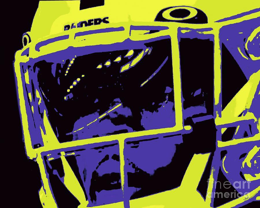 Raiders Painting - Josh Jacobs Closeup by Jack Bunds