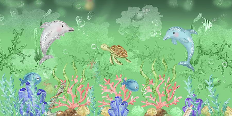 Joyful Day At The Magical Coral Reef Digital Art