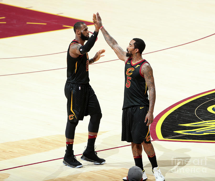 J.r. Smith and Lebron James Photograph by Nathaniel S. Butler