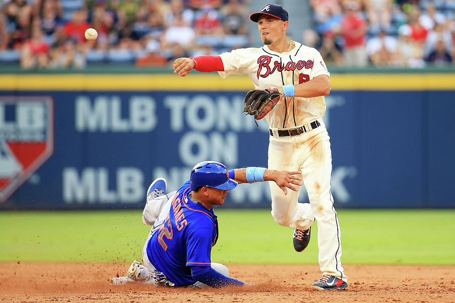Juan Lagares and Jace Peterson Photograph by Daniel Shirey