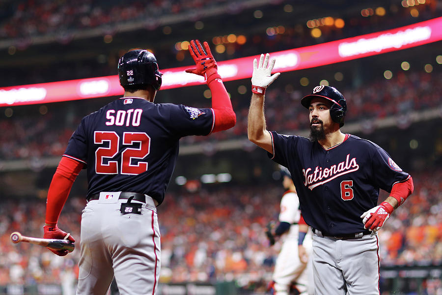 Juan Soto And Anthony Rendon Photograph by Mike Ehrmann