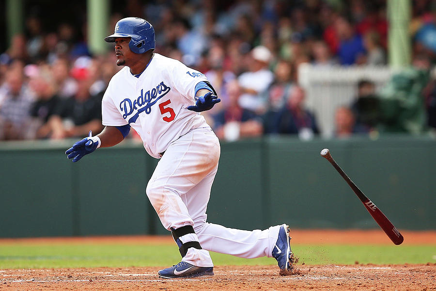 Juan Uribe Photograph by Brendon Thorne