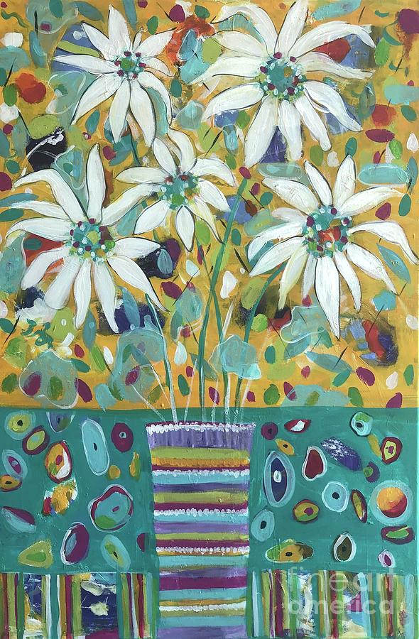 Daisies Painting - Jubilee Celebration by Jacqui Hawk