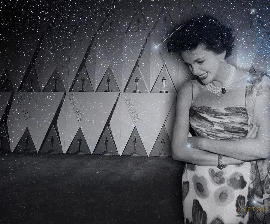 Judy Garland Digital Art - Judi Is Watching by Richard Laeton
