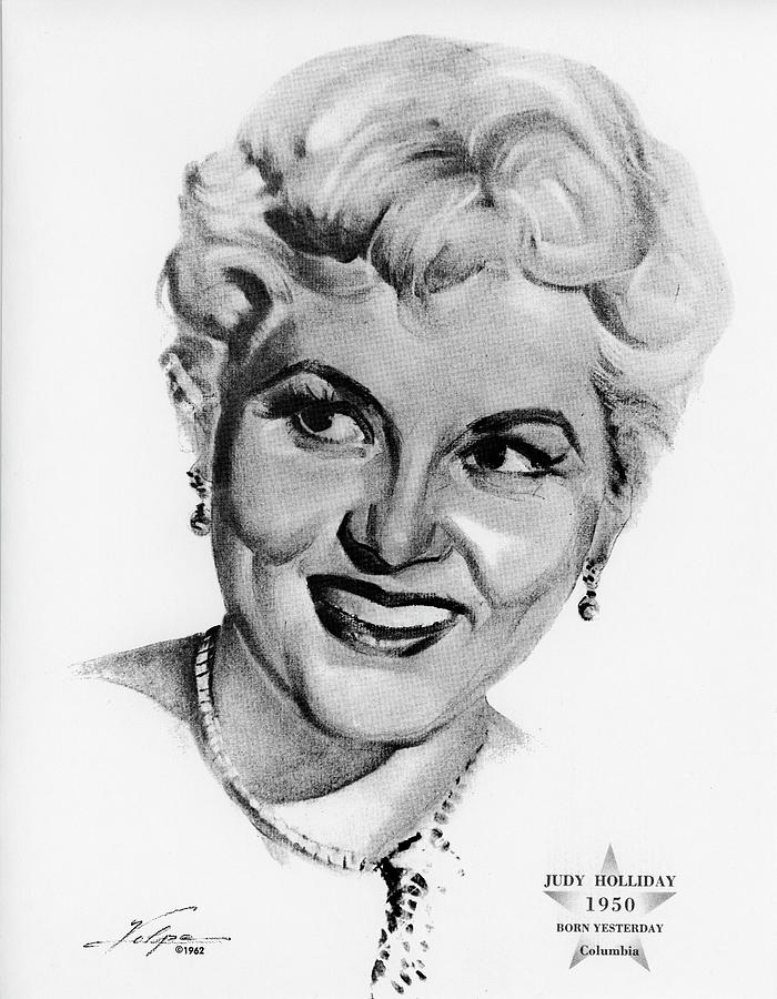 Judy Holliday By Volpe Drawing