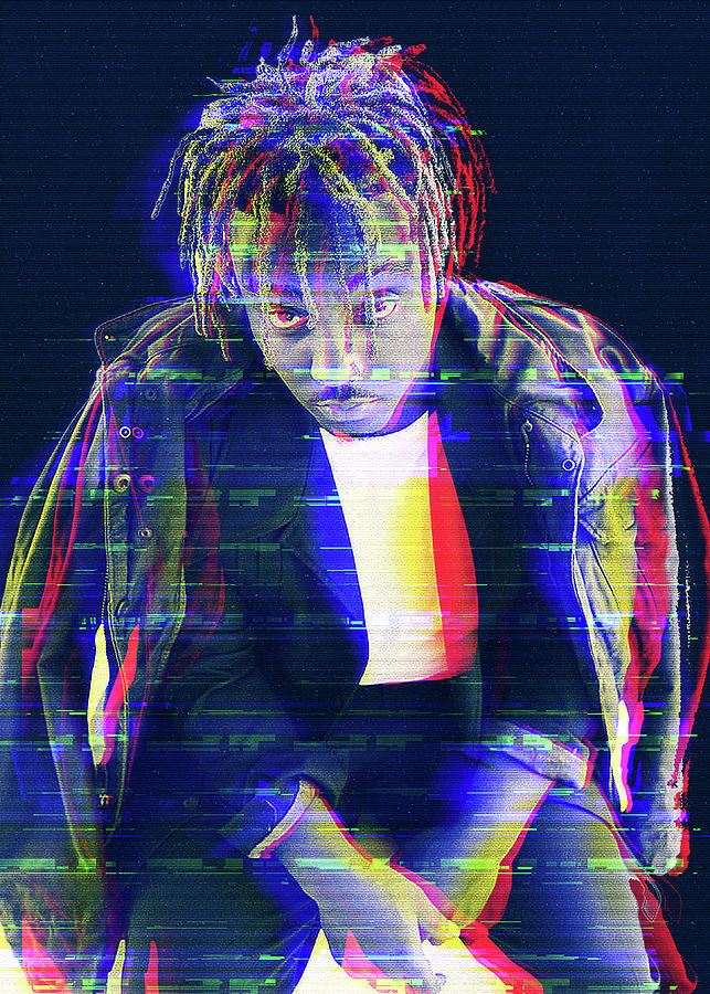 Asap Rocky Digital Art - Juice Wrld Glitch Art by Juice Wrld