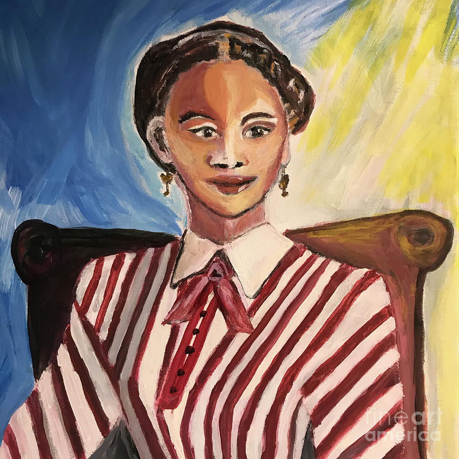American History Painting - Julia Williams, Abolitionist by Kiersten Marek