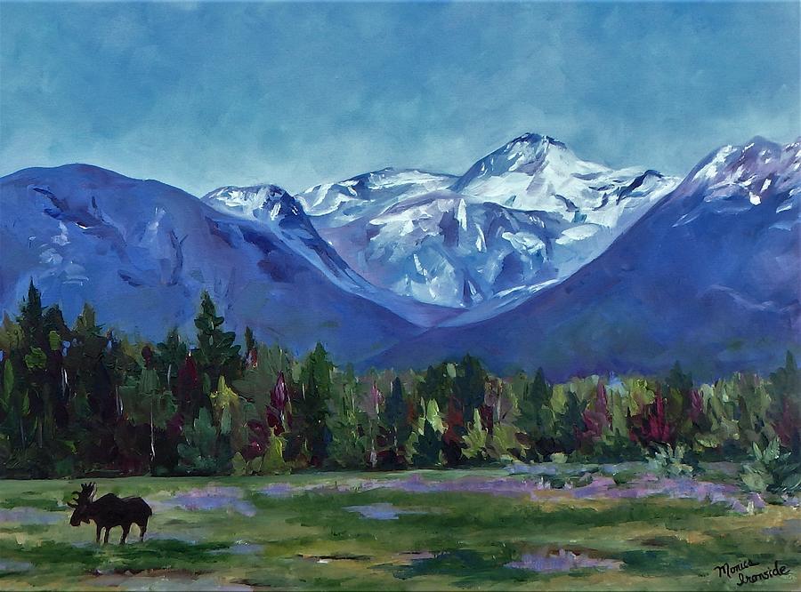 Landscape Painting - Rocher Deboule Range BC by Monica Ironside