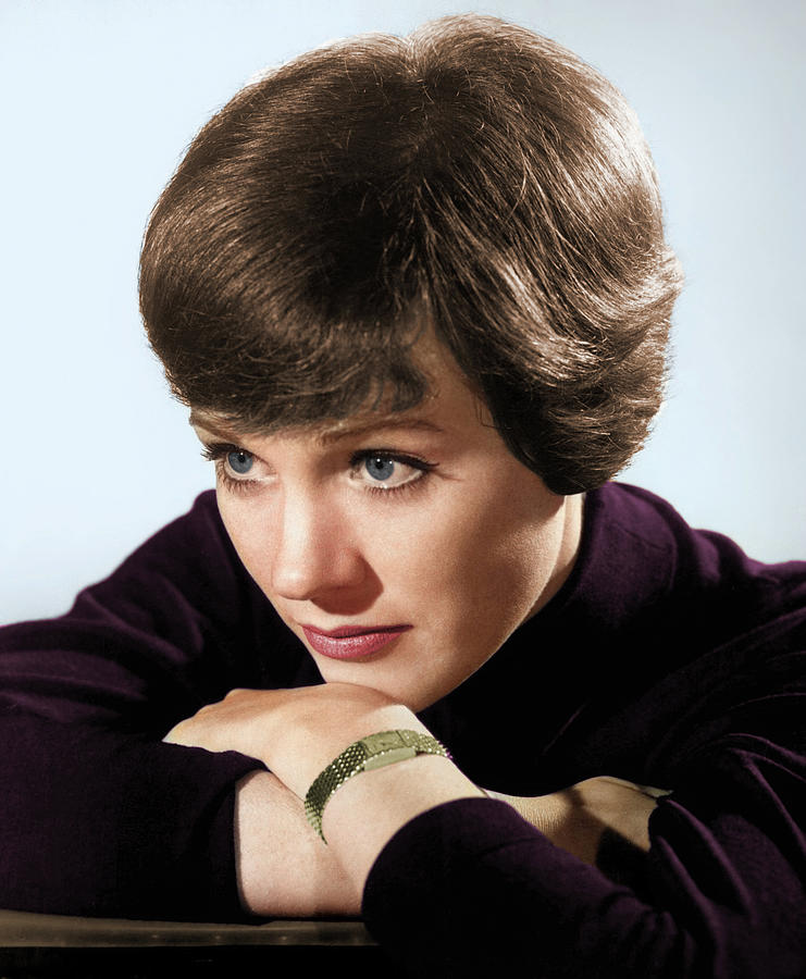 Julie Andrews Colorized Photograph