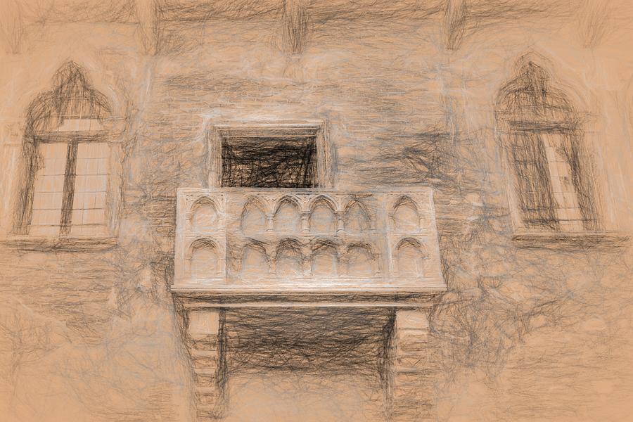 Juliets Balcony Da Vinci Photograph