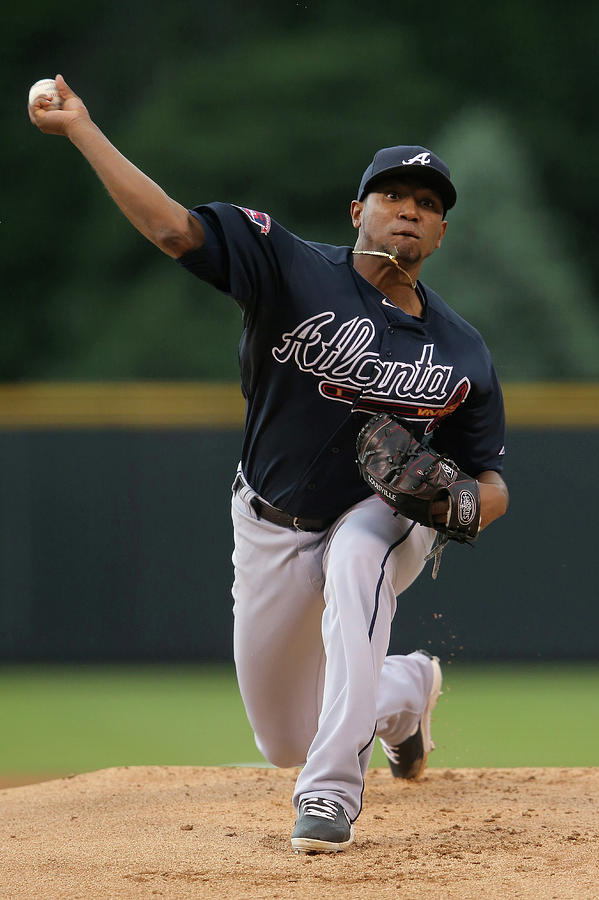 Julio Teheran Photograph by Doug Pensinger