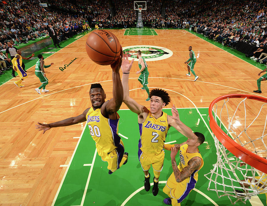 Julius Randle and Lonzo Ball Photograph by Jesse D. Garrabrant