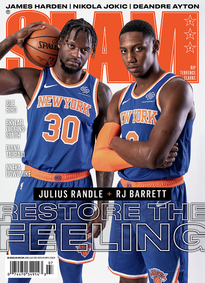 Julius Randle and RJ Barrett Restore the Feeling SLAM Cover Photograph by Getty Images