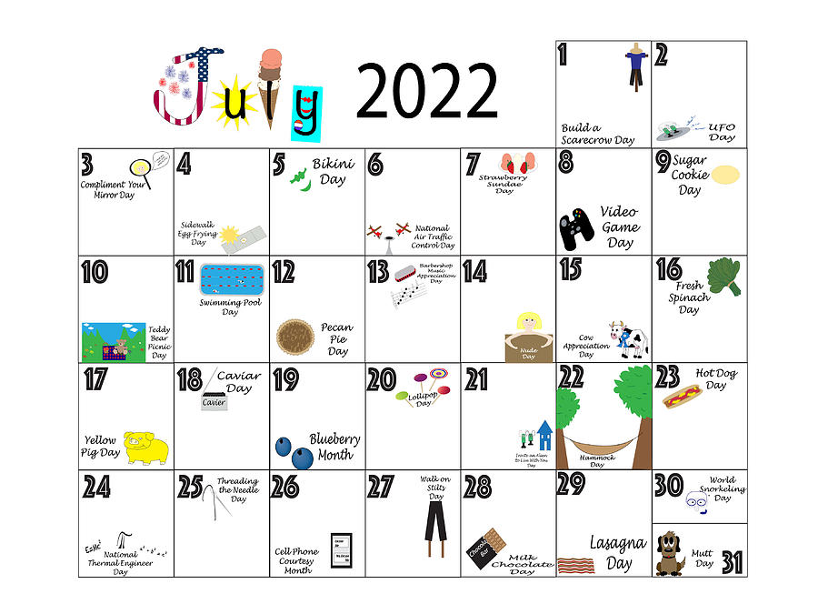 July 2022 Quirky Holidays And Unusual Celebrations Photograph