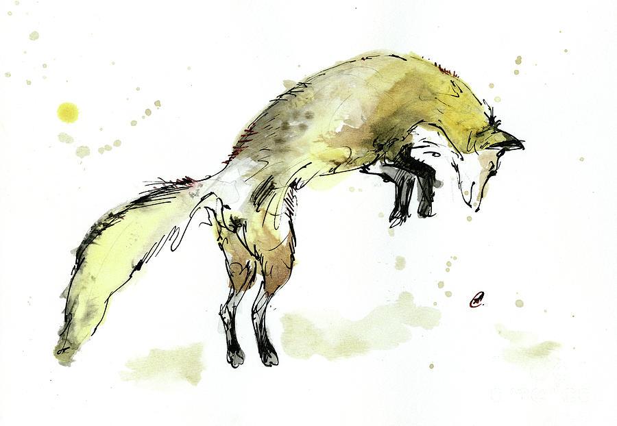 Jumping fox by Angel Ciesniarska