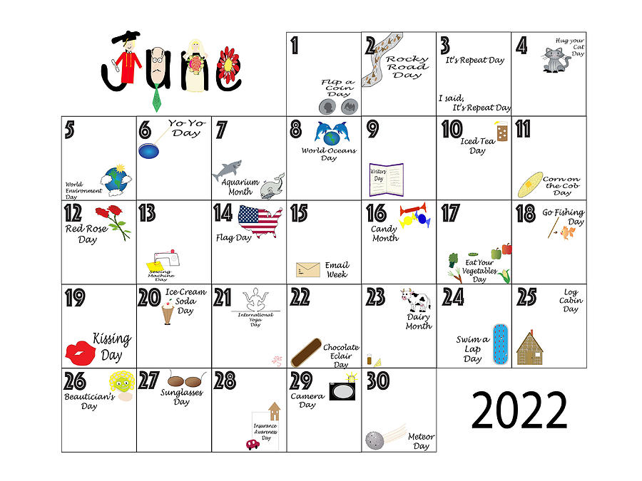 June 2022 Quirky Holidays And Unusual Celebrations Photograph