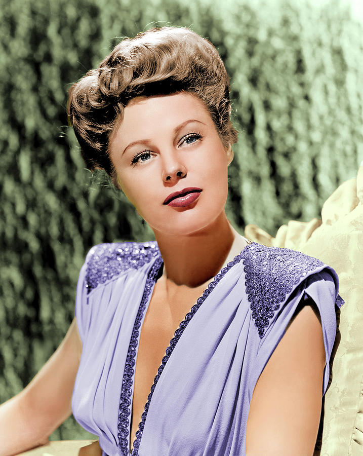 June Allyson Colorized Photograph