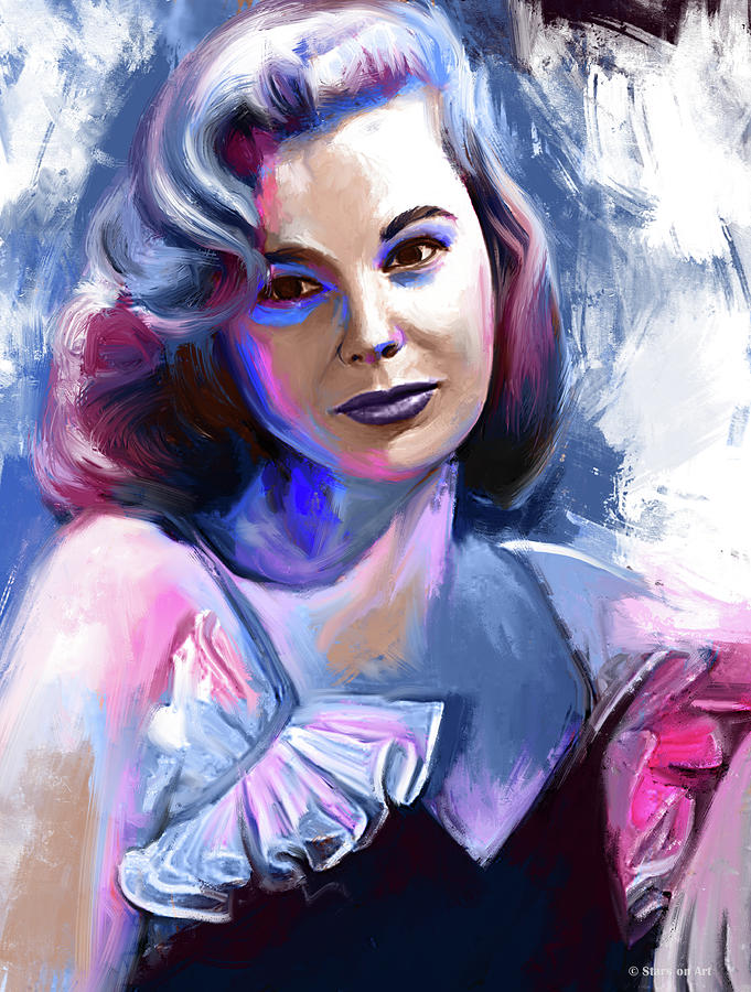 June Allyson Portrait Painting