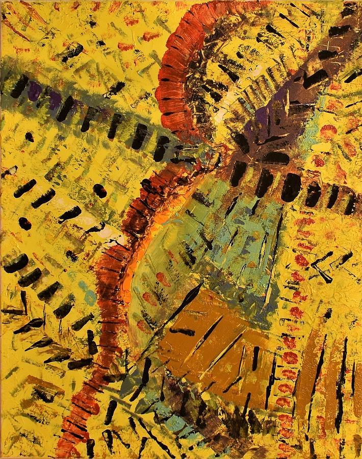 Abstract Painting - Jungle by Pam Roth OMara