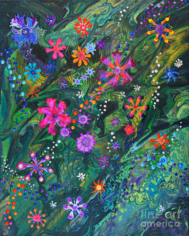 Jungle Seduction 7022 B Painting by Priscilla Batzell Expressionist Art Studio Gallery