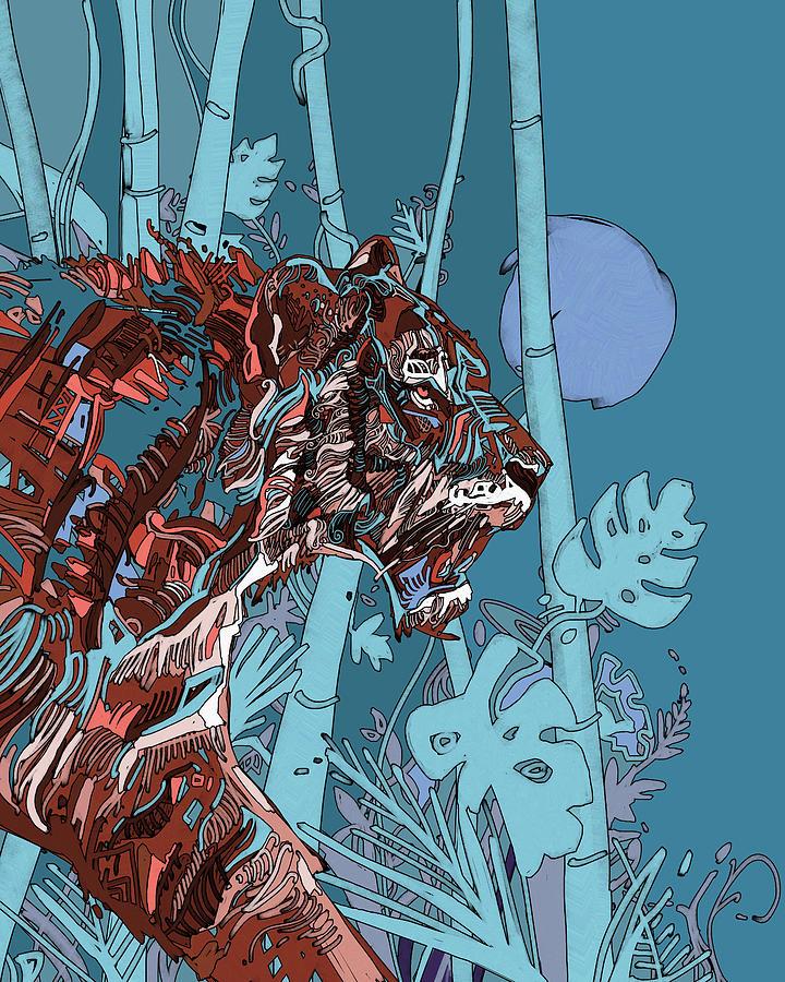 Jungle Tiger V2 Digital Art