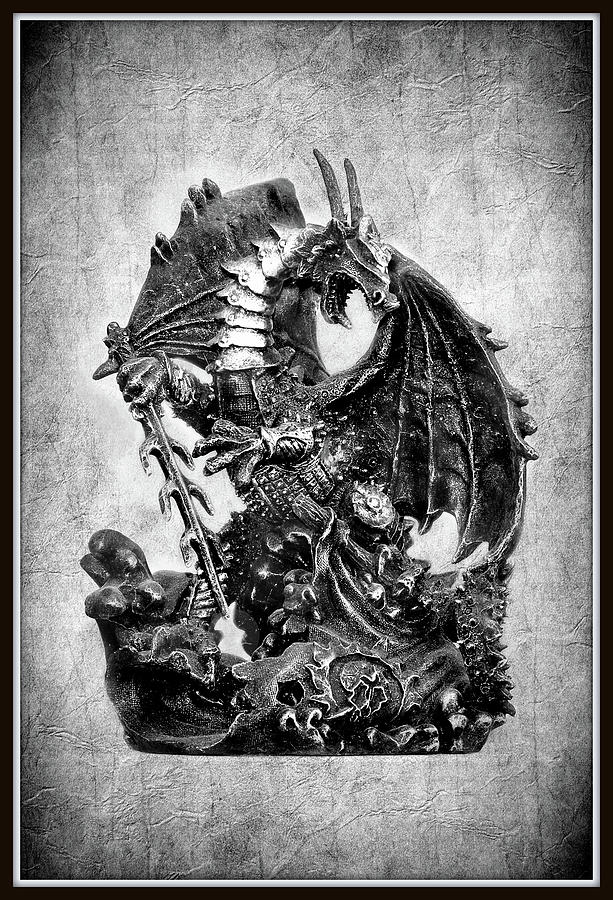 Dragon Photograph - Just A Dragon by Constance Lowery