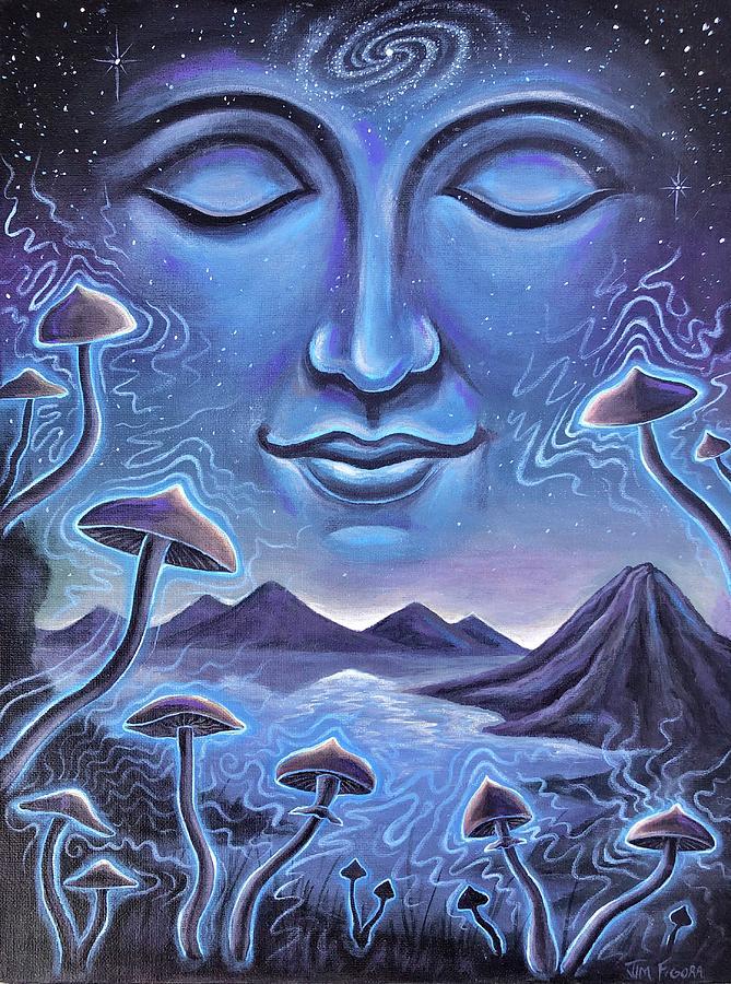 Mushrooms Painting - Just Breathe by Jim Figora