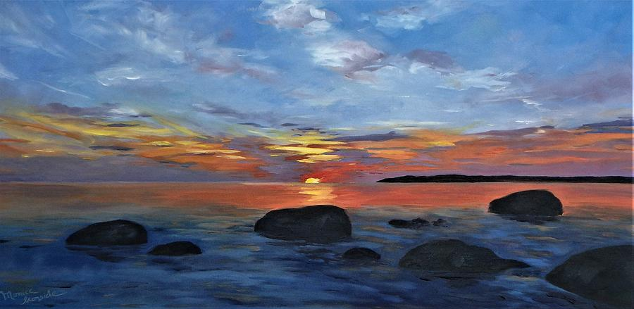 Sunset Painting - Just Breathe by Monica Ironside