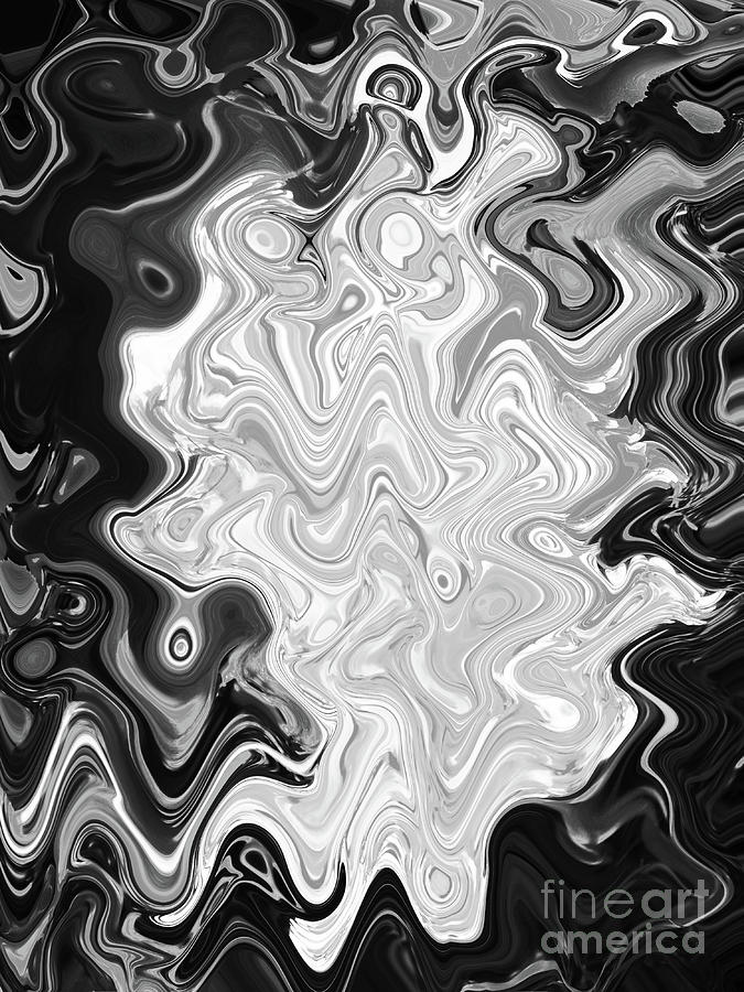 Just Dandy Abstract In Black And White Digital Art