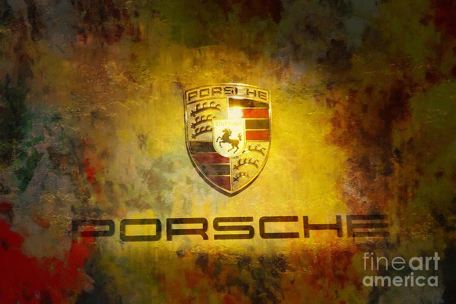Porsche Logo Painting - Just Forever Porsche by Stefano Senise