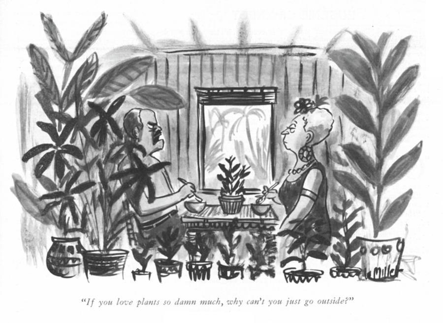 Just Go Outside Drawing by Warren Miller