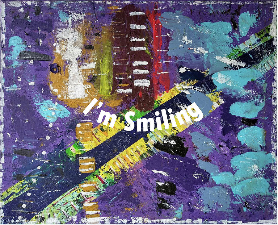 Purple Digital Art - Mask version of Just Smiling by Pam Roth OMara