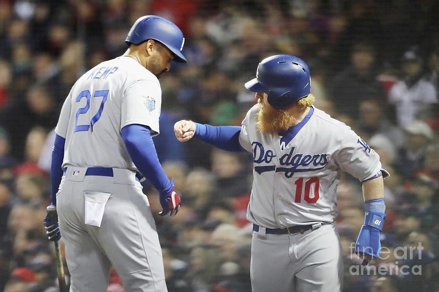 Justin Turner And Matt Kemp Photograph by Elsa