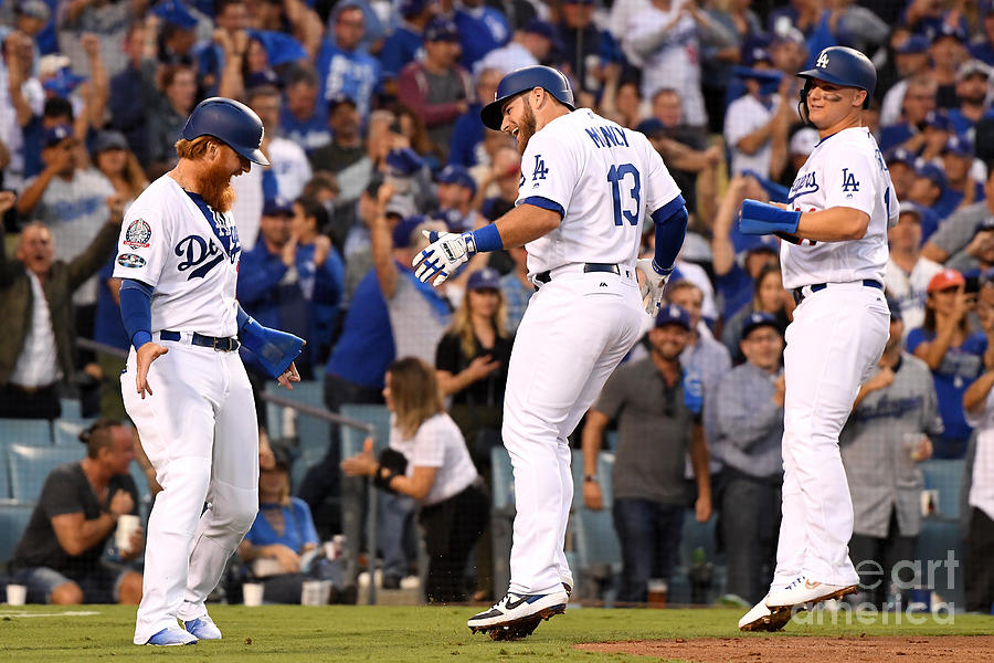 Justin Turner, Max Muncy, And Joc Pederson Photograph by Harry How