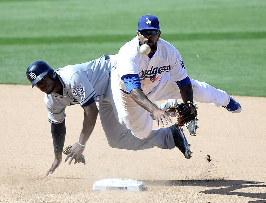 Justin Upton and Howie Kendrick Photograph by Harry How