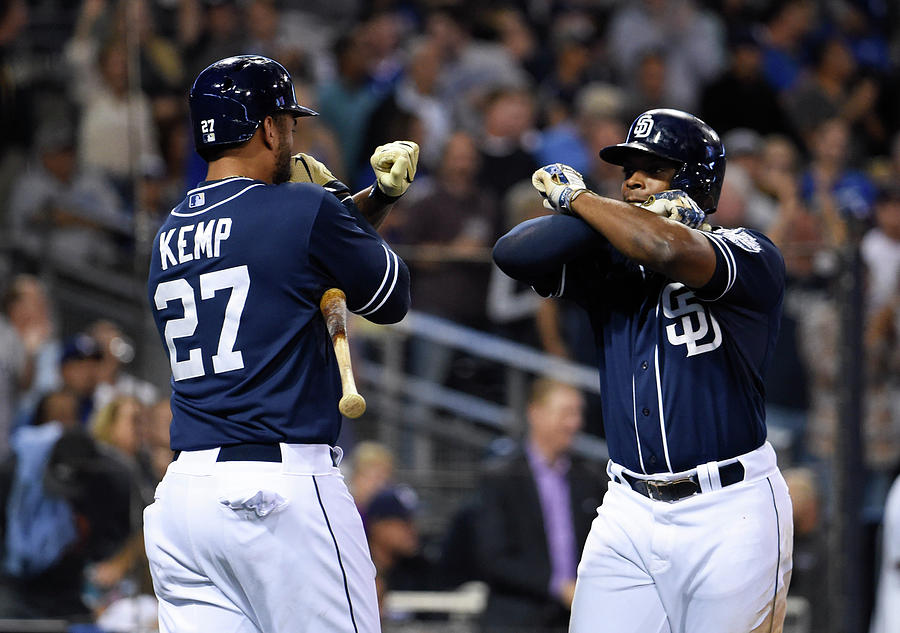Justin Upton and Matt Kemp Photograph by Denis Poroy