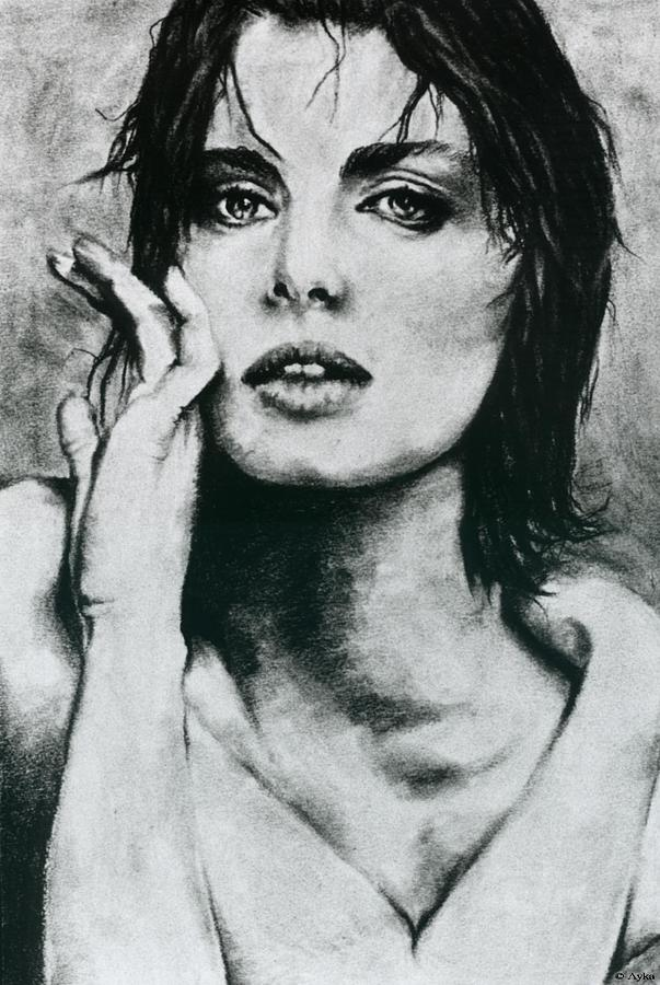 Kinski Drawing - K by Ayka Yasis