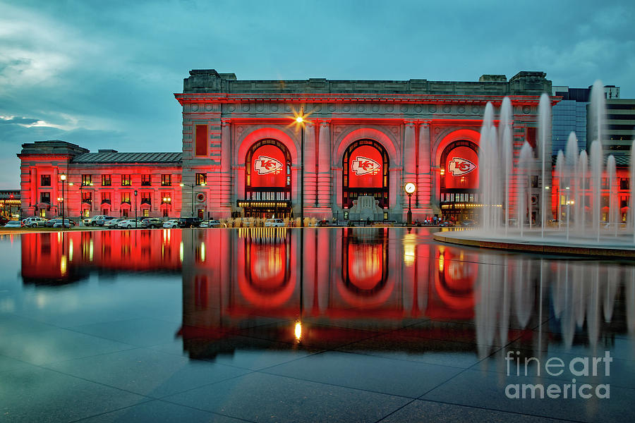 K C Union Station Red Friday Photograph