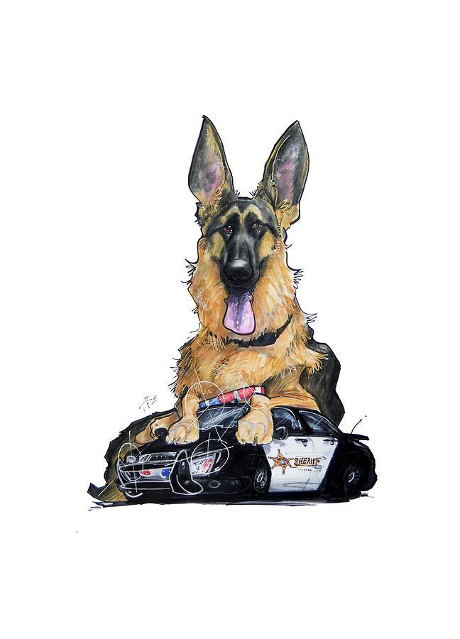 K9 Unit German Shepherd Drawing