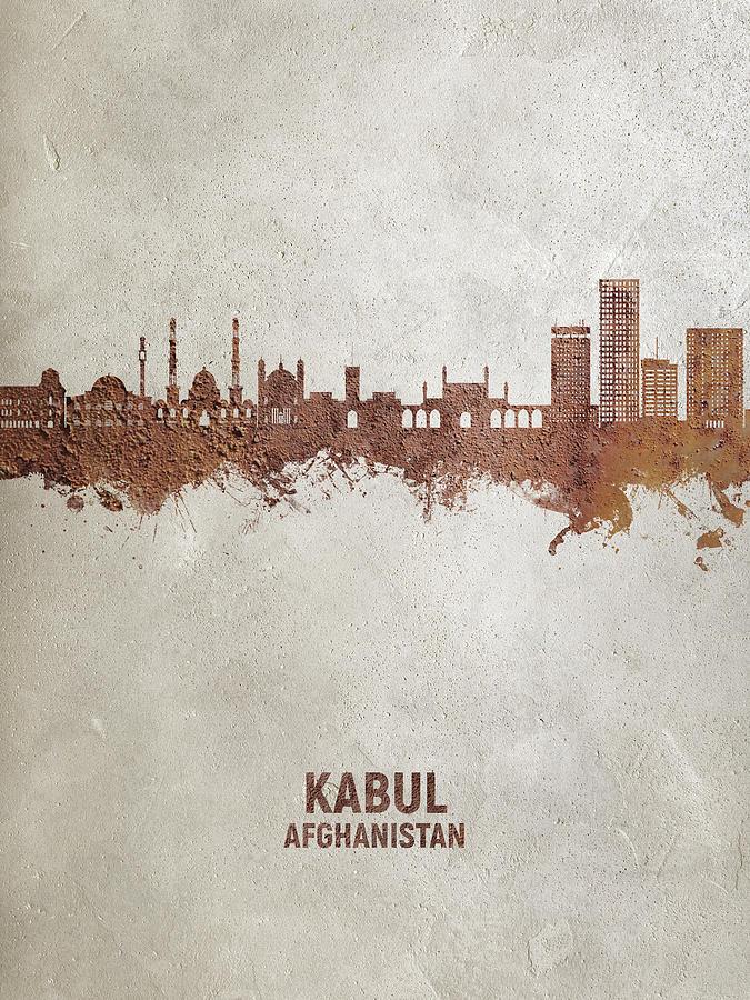 Kabul Digital Art - Kabul Afghanistan Skyline #73 by Michael Tompsett