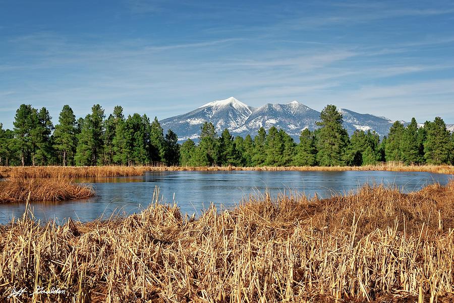Arizona Photograph - Kachina Wetlands And San Francisco Peaks by Jeff Goulden