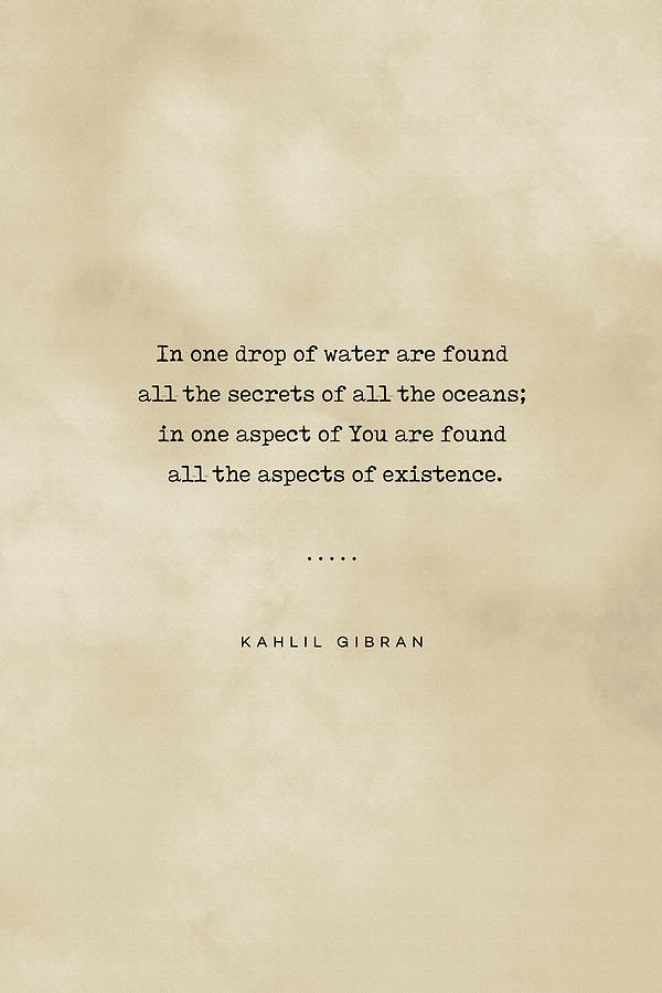Kahlil Gibran Quote 05 - Typewriter Quote On Old Paper - Literary Poster - Book Lover Gifts Mixed Media